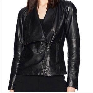 Anne Klein leather Moto jacket